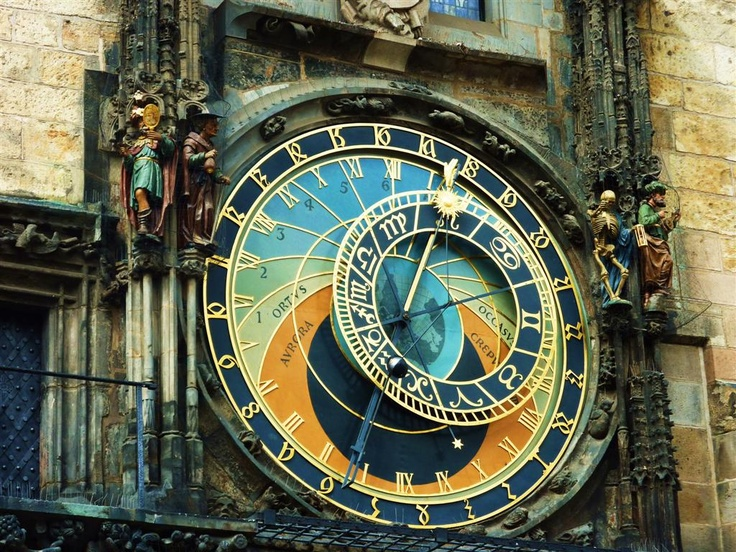 My daughter went to Prague and saw this.  I'm now obsessed with it.  Astronomical Clock Tower in Prague.