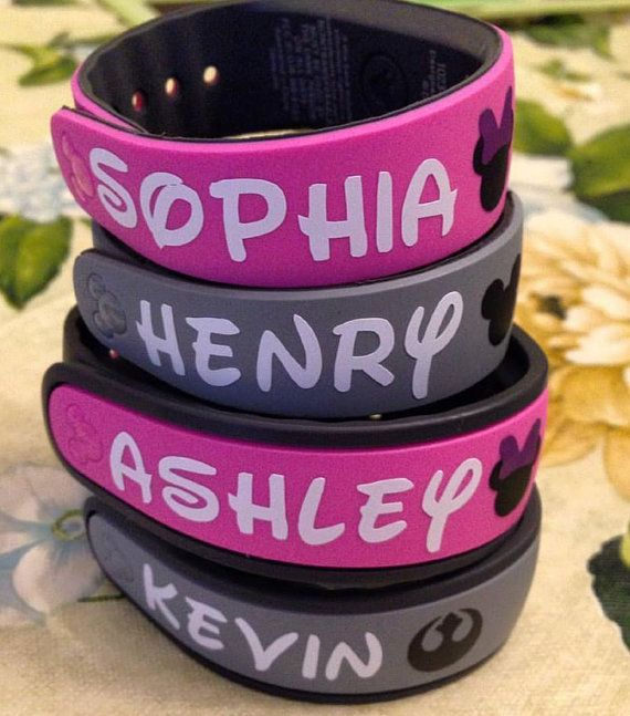 Personalized Name decal for your Disney Magic Band $3.00 each Available in White or Black. Please include the names in the notes to seller