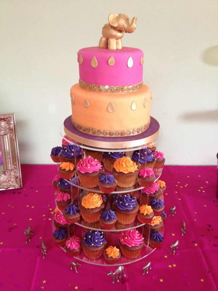 Bollywood party cake......love the purple....has Aj name all over it....never too early