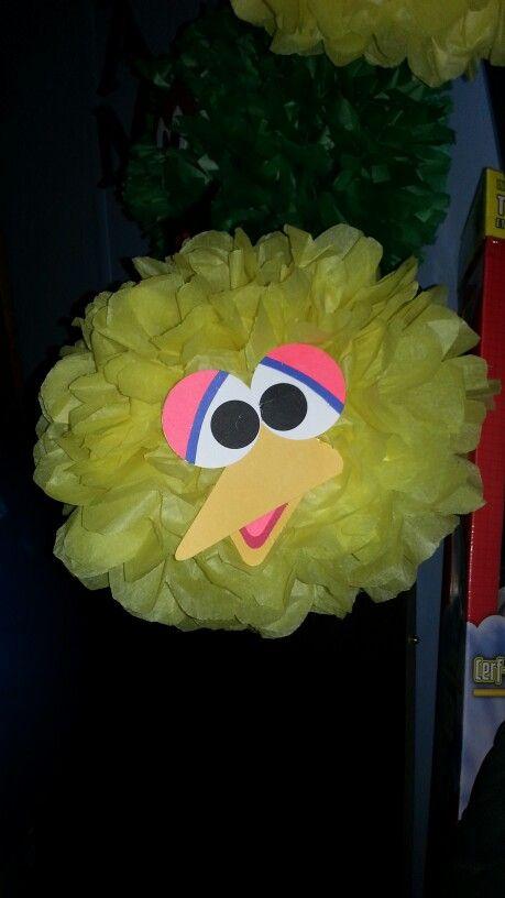 big bird pom pom