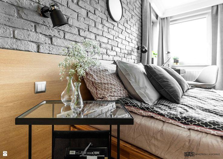 Sypialnia styl Industrialny - zdjęcie od SAS Wnętrza i Kuchnie - Sypialnia - Styl Industrialny - SAS Wnętrza i Kuchnie bedroom inspiration | scandinavian | modern | industrial