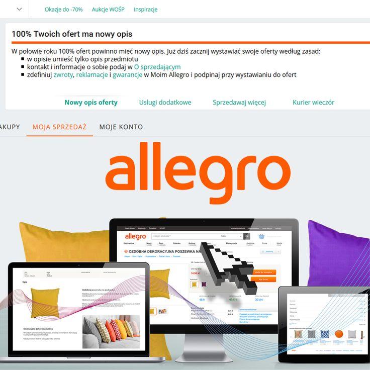 Czy wiecie, że teraz Allegro daje wam możliwość sprawdzenia ile procent waszych ofert spełnia zasady nowego opisu? Informację na ten temat zobaczycie w jednej z zakładek - Sprzedaje, Sprzedane, Niesprzedane lub Do wystawienia.  Pochwalcie się ile procent aukcji w waszych ofertach spełnia nowe wymagania :)  🌐 http://e-prom.com.pl 📱 792 817 241 📧 biuro@e-prom.com.pl  #allegro #obsługaallegro #aukcjeallegro #nowyopis #sprzedażnaallegro
