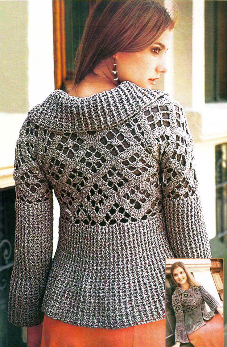 Saco gris crochet