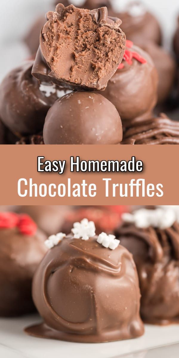 Chocolate Cream Cheese Truffles Are Creamy Decadent Truffles Made With Only Four Chocolate Recipes Homemade Homemade Chocolate Truffles Milk Chocolate Recipes