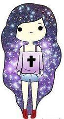 Chica con pelo galactico 2
