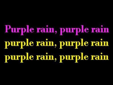 Prince-Purple Rain Lyrics