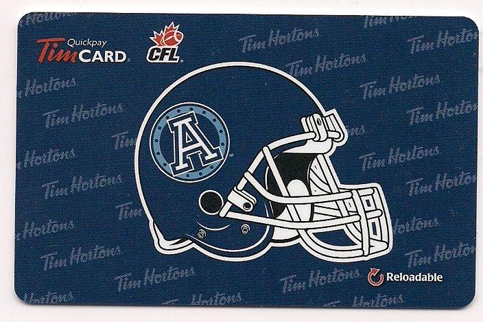 2012 - Toronto Argonauts - English - # -  Part of an 8 card CFL set - Logo on a Helmet