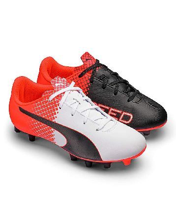 Puma evoSpeed Junior Football Boots The evoSPEED Junior is an entry-level kids™ football boot for firm ground that combines comfort and durability with a fresh design. The soft yet durable synthetic leather, the improved anatomic fit an http://www.MightGet.com/january-2017-13/puma-evospeed-junior-football-boots.asp