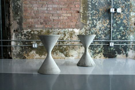 Mid Century concrete planters by Willy Guhl for Eternit AG - Switzerland
