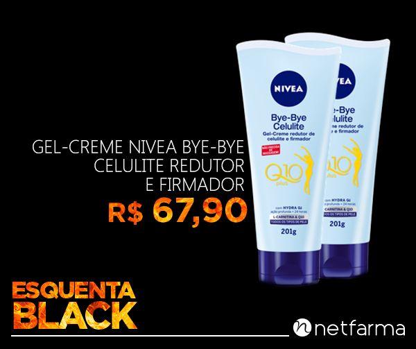 Novo Bye Bye Celulite: agora com a tecnologia Hydra QI e coenzima Q10. NIVEA® bye-bye Celulite deixa sua pele mais firme ao mesmo tempo que reduz a aparência da celulite - e não precisa de massagem! A união de seus ingredientes proporciona resultados visíveis em poucas semanas.