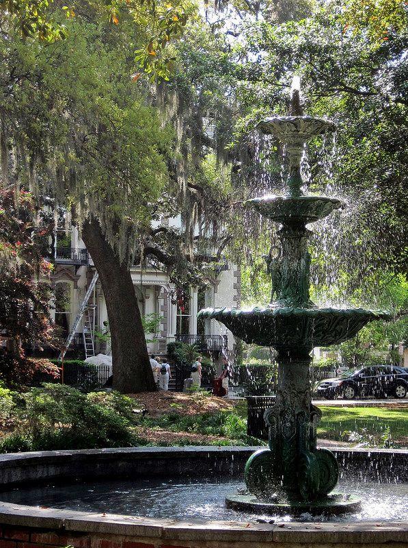 Savannah Historic District - Fountain