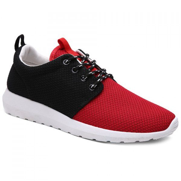 Stylish Color Matching and Lace-Up Design Men's Athletic Shoes #shoes, #jewelry, #women, #men, #hats, #watches, #belts