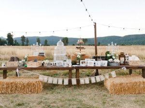 table botte de foin dco champetre mariage