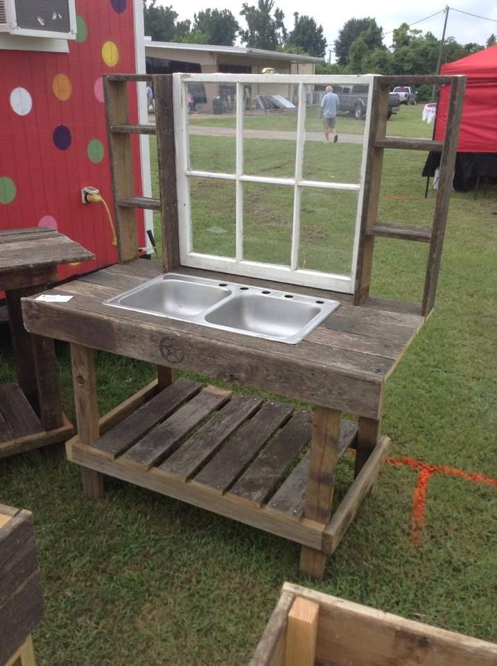 I Like This Idea For An Outside Sink. Gardening/BBQing/Kids Wash Station