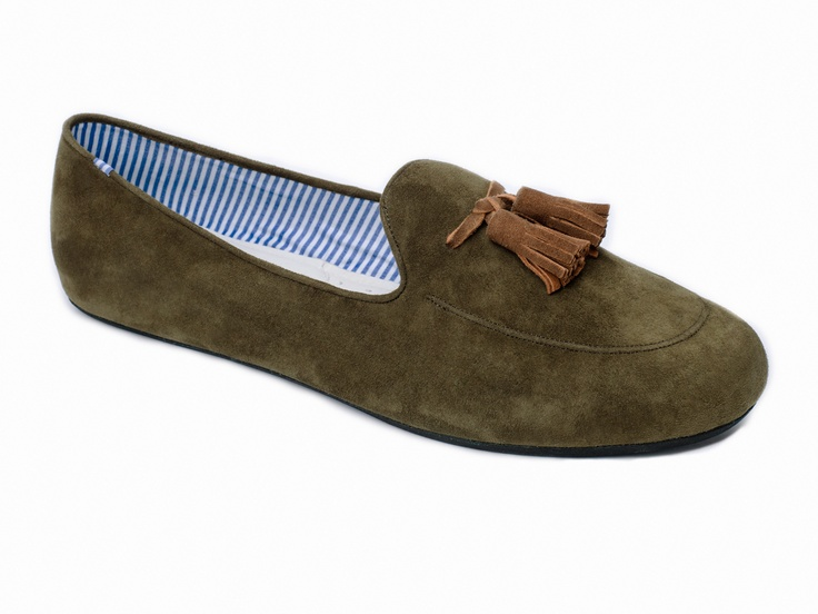 Ronald Olive Brown Suede