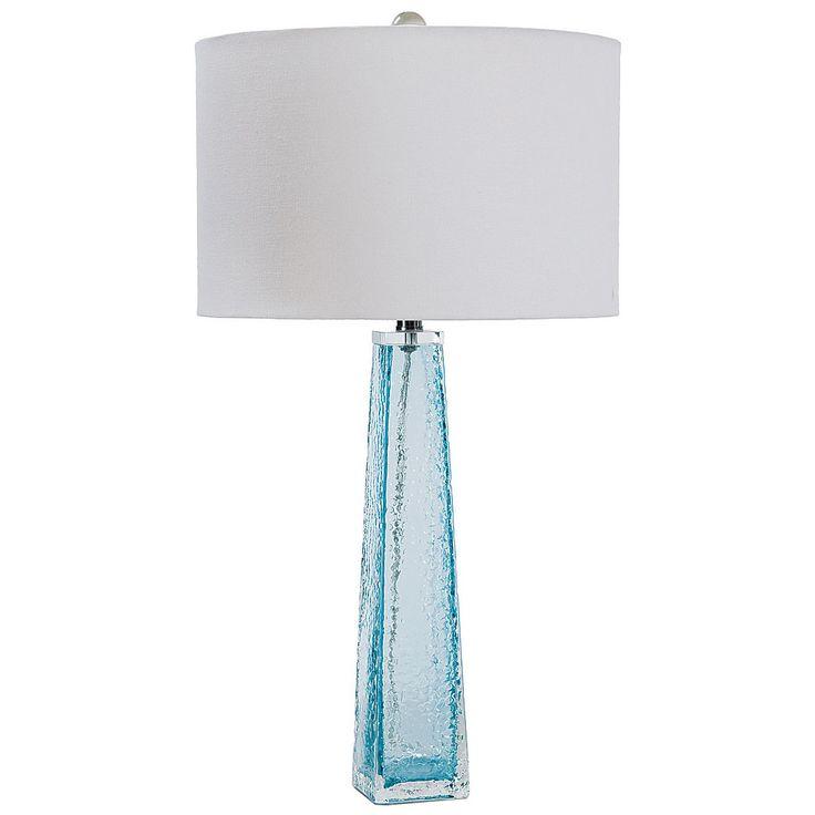 Regina Andrew Lighting Tapered Glass Light Blue Table Lamp