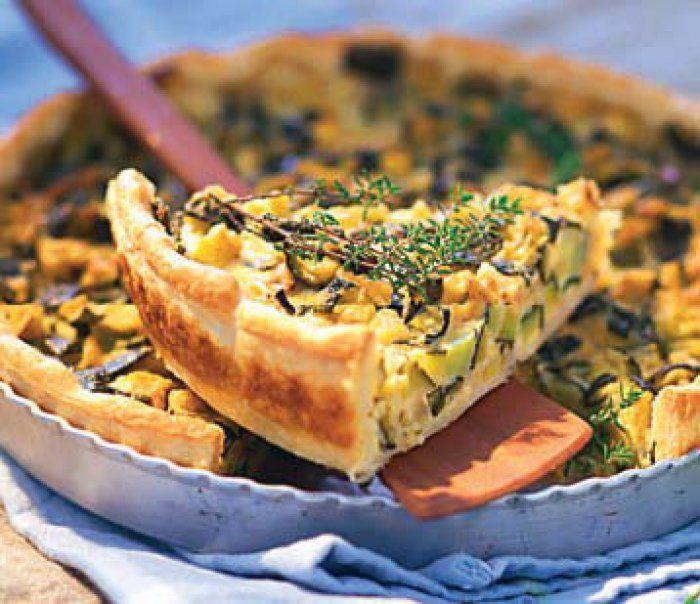 Tarte salée aux courgettes et parmesan