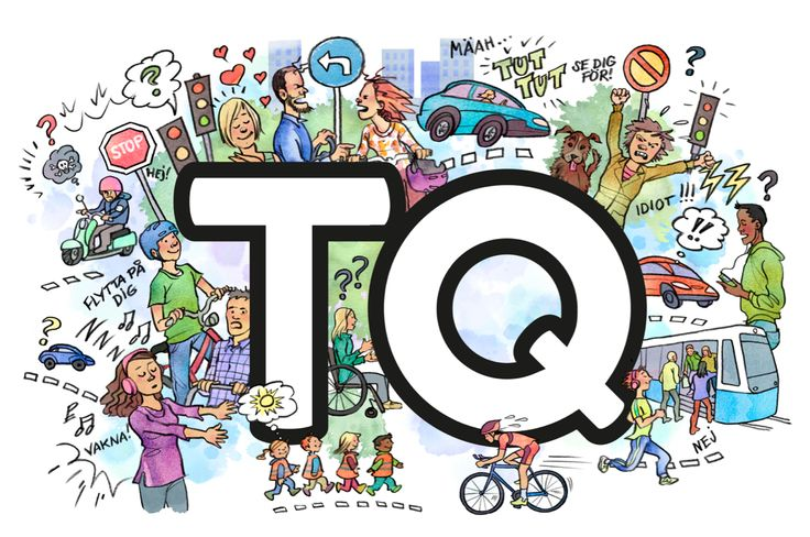 TQ = Trafikintelligens - Latest campaign on the streets for Trafikkontoret in Göteborg. Illustrated by Eva Lilja.