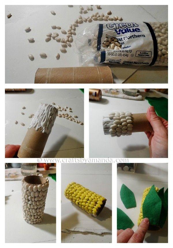 cool craft Corn on the Cob Pencil Holder