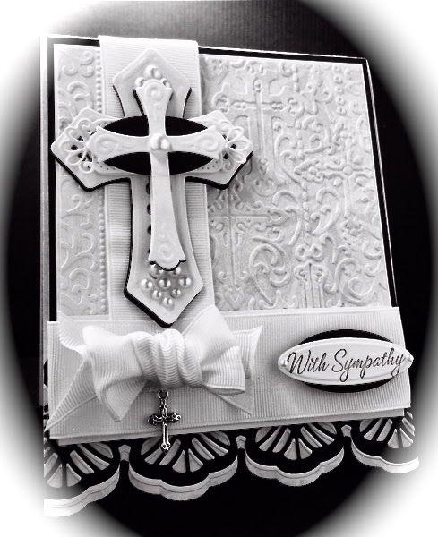 www.CardsbyAmerica.blogspot.com, America, Sympathy, Spellbinders, Religious, Crucifix