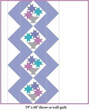 Free Quilt of the Moment Pattern: Modern Basket, original block and quilt design by Judy Martin. http://www.judymartin.com