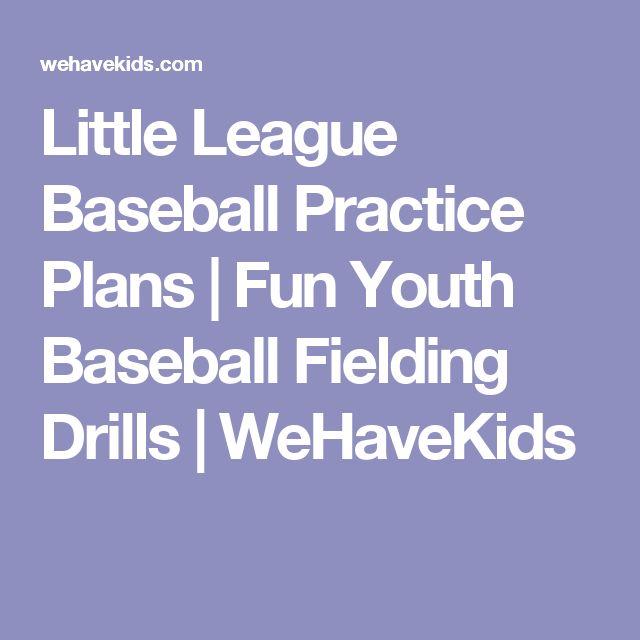 Little League Baseball Practice Plans | Fun Youth Baseball Fielding Drills | WeHaveKids