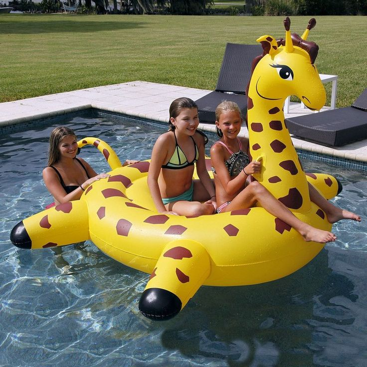 Giant Giraffe Swimming Pool 2-Person Float Summer Outdoor Beach Floaties Raft #SunPleasure