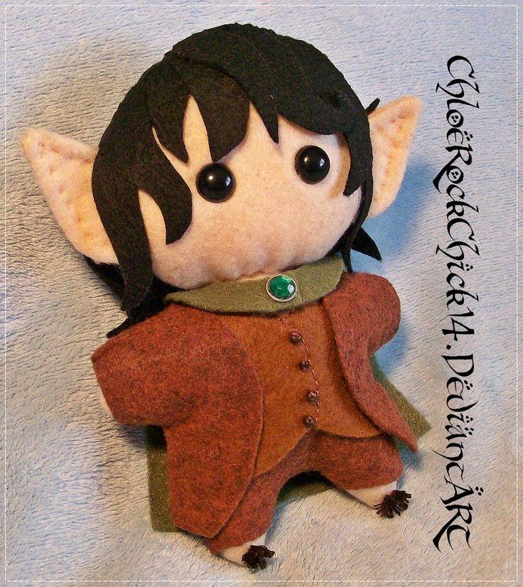 Frodo Baggins Chibi Plushie - LOTR/The Hobbit by ChloeRockChick14.deviantart.com