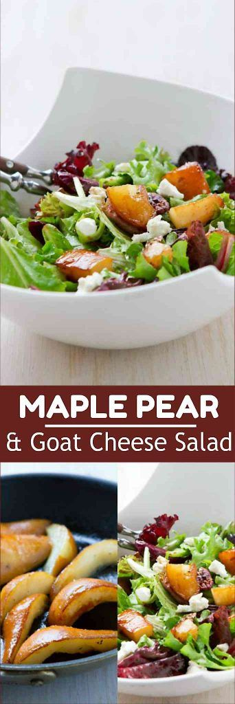 Green salads with goat cheese are always popular, and this one is made extra special with the addition of sautéed pears. 235 calories and 6 Weight Watchers SmartPoints