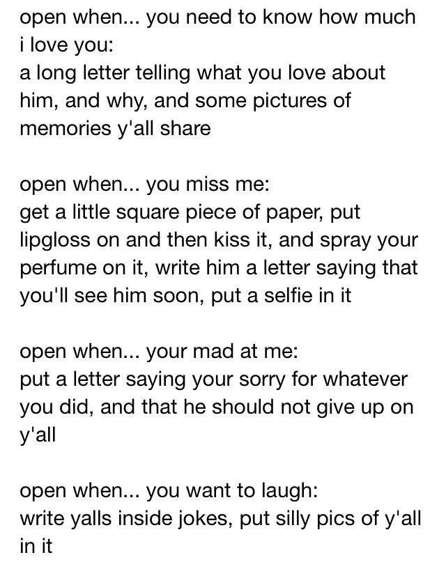 8 best Open When Letters images on Pinterest Creative gifts - gift letter