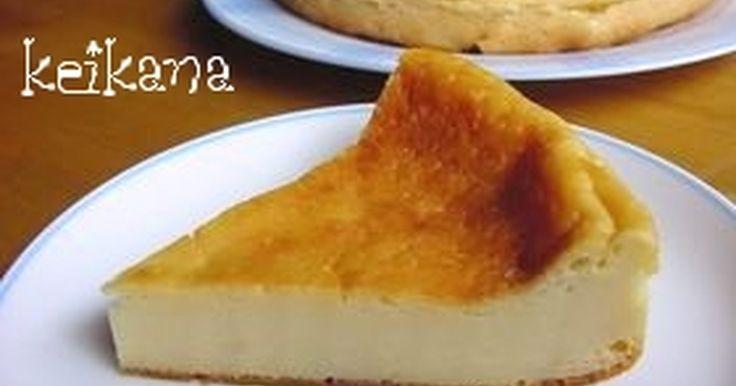ヨーグルトの水切り不要!ボール1つでできる簡単レシピ。ヨーグルトなのに、濃厚なベイクドチーズケーキ(風)になりました。