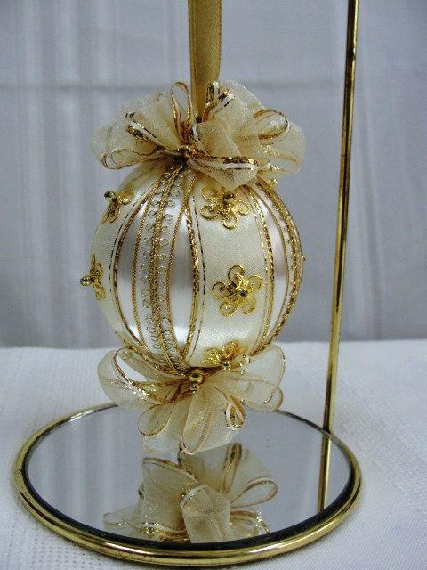 Handmade Christmas Tree Ornament Vintage White by BobbyesHobbies, $14.95