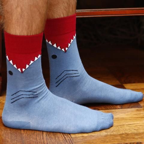 Predator Leg Eater Shark Socks | Cool Gift for Shark Lovers | Funny Socks for Men