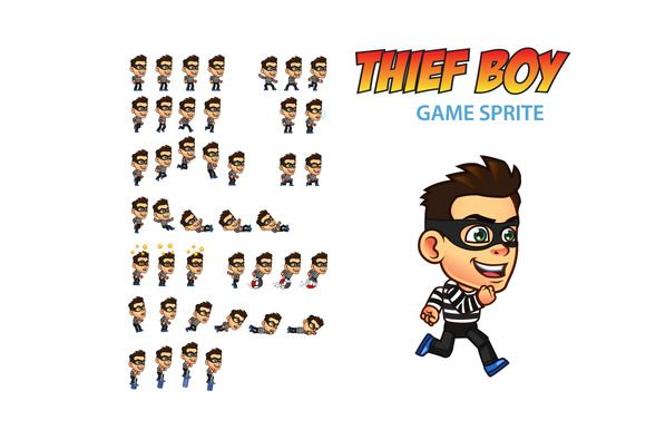 Thief Boy Game Sprite by Gagu on Creative Market