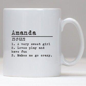 Personalised Classic Definition Mug