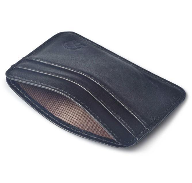 Men Black Bank Card Package Coin Bag Card Holder Leather Male Wallets Women Credit Card Holder Cover Case