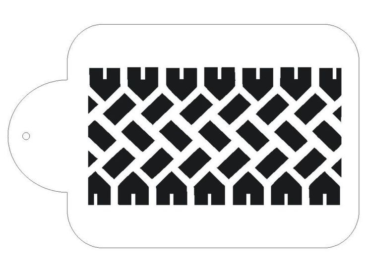 Tire Track Tread Stencil For the Designer Crafts for Decorating Cake #S131