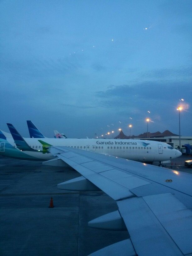 Morning sky garuda indonesia