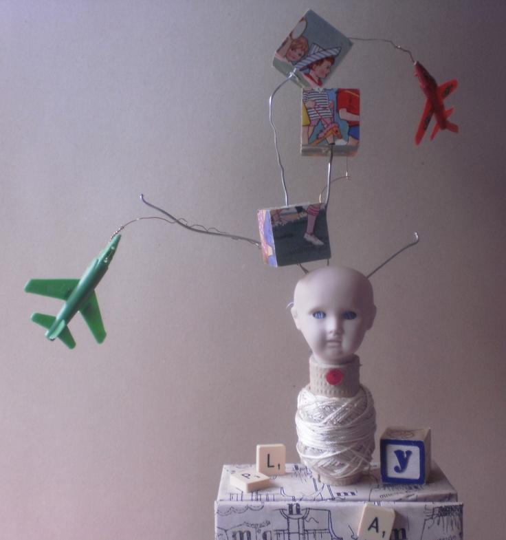 Detail of 'Childs Play.   Karin McCombe Jones, NZ Artist