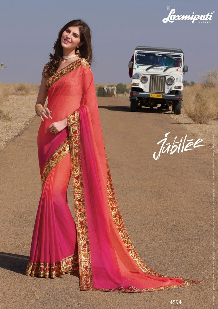 Shop this Splendid Pink Colored Padding #Chiffon Stone Work #Saree and Multicolor Fancy Blouse along with Satin #Silk Lace Border from #Laxmipatisarees. Catalogue- Jubilee, Design Number: 4594, Price: ₹ 2417.00 #Jubilee0417 #Cashondelivery #Orderonline #Freeshipping