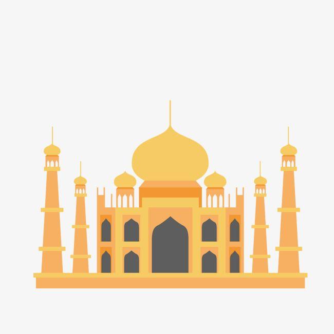 أصفر تاج محل Taj Mahal Backgrounds Phone Wallpapers Mosque Silhouette