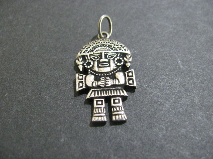 Silver plated aztec pendant  #Unbranded #Pendant