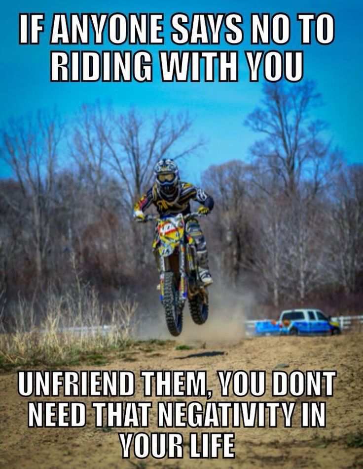 Don't ride alone! It may be your buddy that takes you to the hospital. True story. And TRUE buddies come and take u riding when the need for 'therapy' calls.
