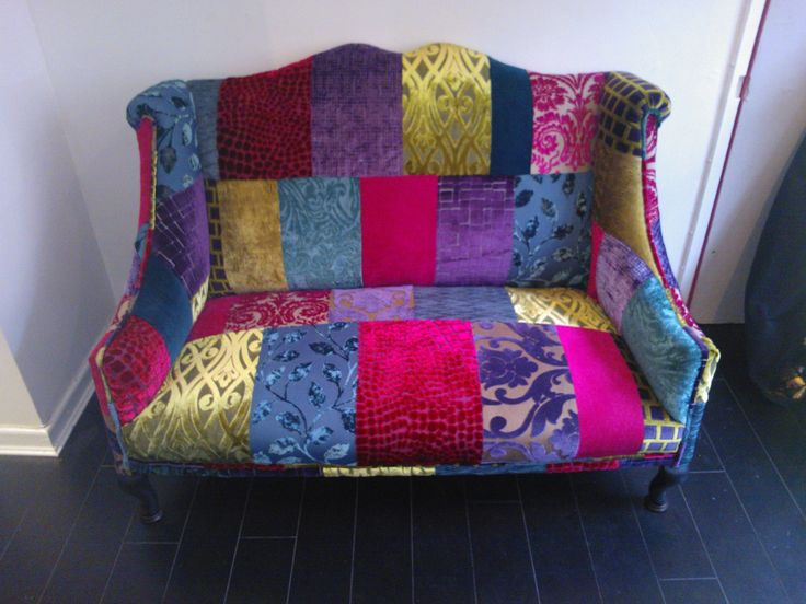 48 best patchwork chairs sofas upholstery images on pinterest canapes couches and settees. Black Bedroom Furniture Sets. Home Design Ideas