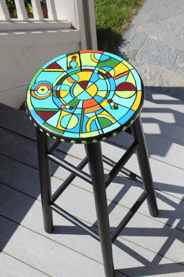 Funky painted furniture ideas - Hand Painted Stool Hand Painted Stoolspainted Chairsfurniture Ideasfunky