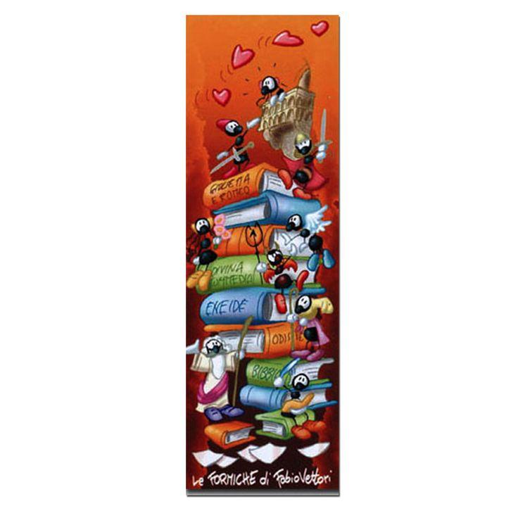 Segnalibro in carta FV01-02 | Le Formiche di Fabio Vettori #segnalibro #book #libro #formiche #gift #leggere #love #innamorati #fantasia #storie