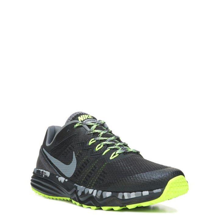 Nike Men's Dual Fusion Trail Running Shoes (Black/Grey/Volt) - 10.0 D