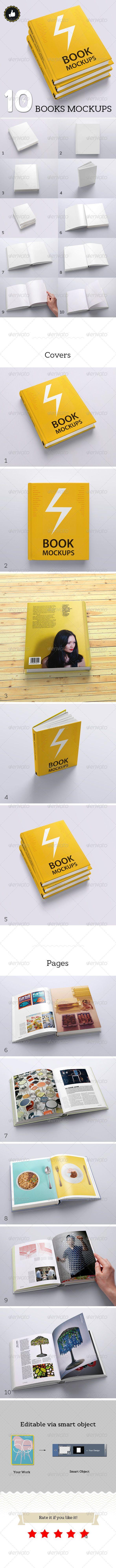 Book Mockups / 10 Different Images  — PSD Template #presentation #3d book #mockup #modern #mock-up