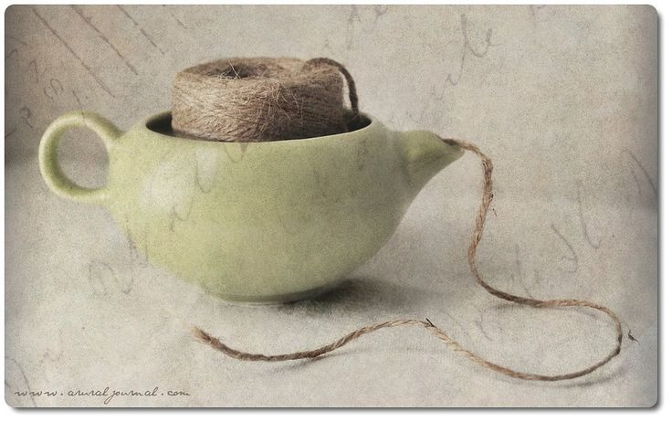 Great alternative to an expensive yarn bowl - just make sure you buy one with a short spout, or it'll be hard to feed the yarn end through it!