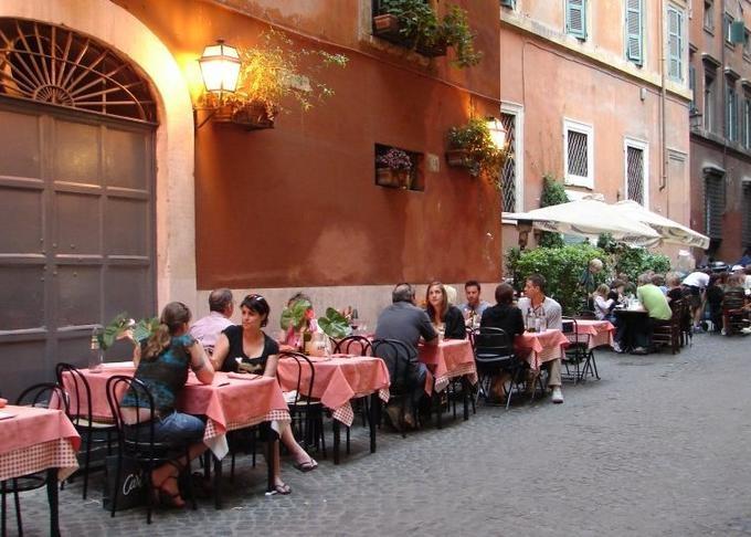 Tuscany Street Cafe Wall